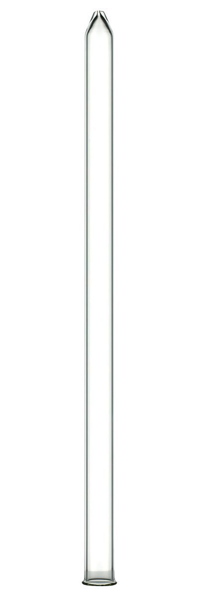 Extraction Proz 50-EXT-30 Glass Extractor Extraction Filter Tube 30'' Long 50mm Diameter Clear with Stainless Steel Clamp