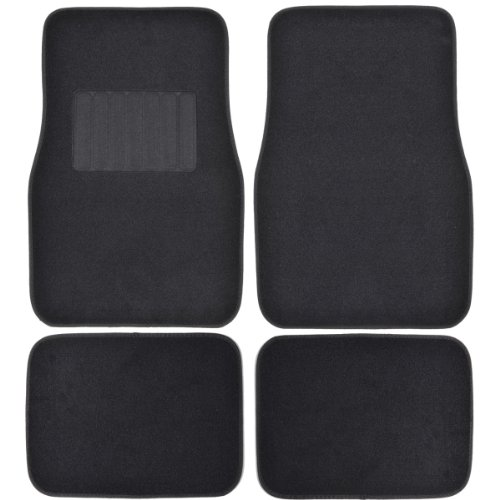 Motor Trend FatRug Carpet Floor Mats - Black - Thick Robust