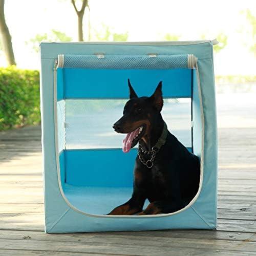 ペットキャリー 猫 犬、 犬や猫のためのペットの洞窟/テントベッド、ForTravelのために設計された、屋外での使用、ポータブル屋内ペットハウス猫の隠れ家、ブルーピンク、3サイズ (Color : Blue, Size : S)