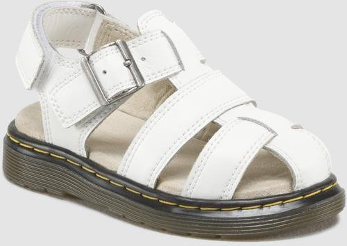 Dr Martens Moby Infant White Leather Flat Sandals