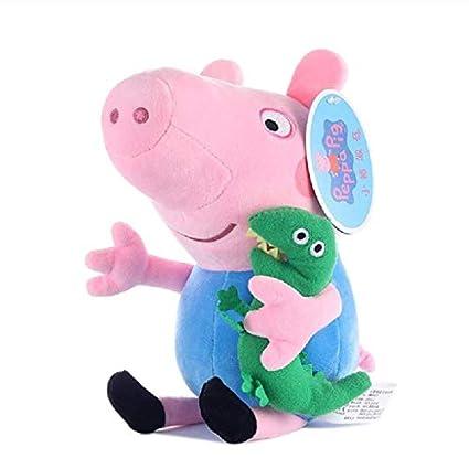 WFORGETT Genuino Peppa Pig 19 Cm Peppa George Peluche con ...