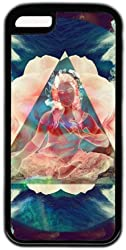 Buddha Theme Case for iPhone 5C PC Material Black