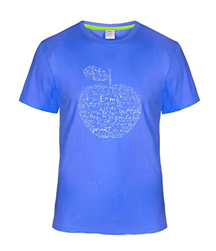 Smua White chemistry and apple T Shirt for Mens S (Chemistry White T-shirt)