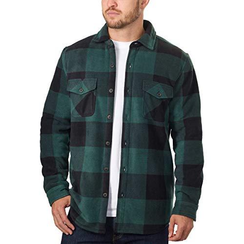 - Men's Plaid Super Plush Jacket Shirt (Green, XX-Large)