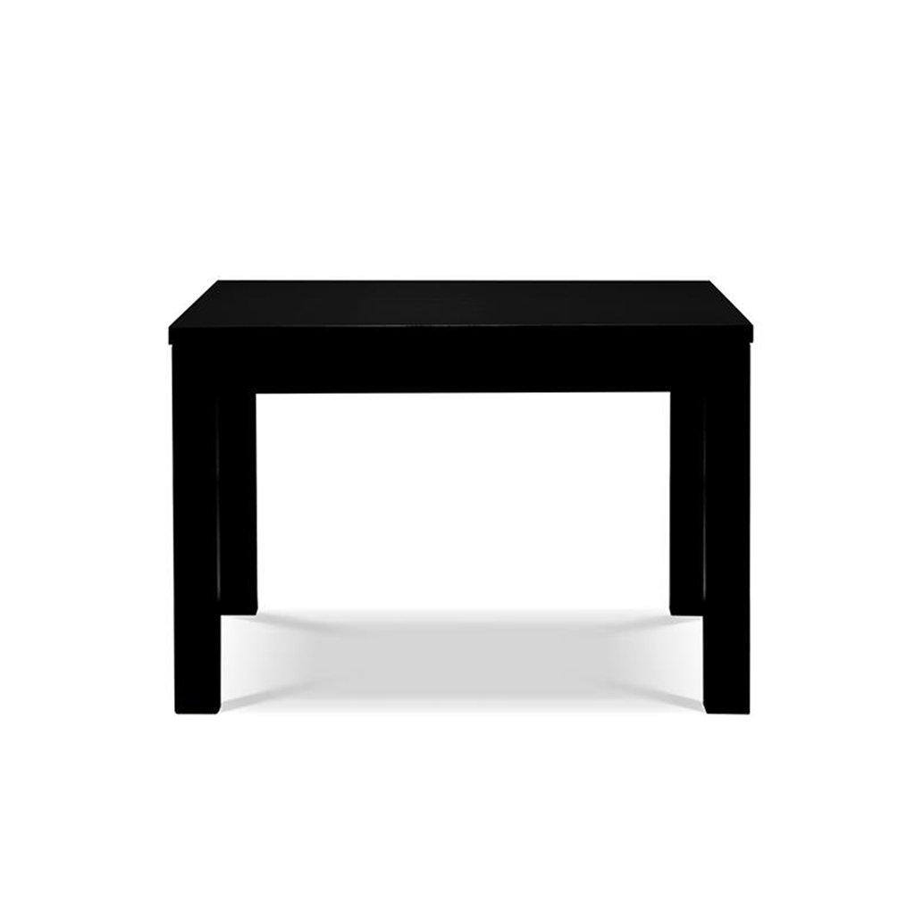 折り畳みテーブル- 多色スクエアテーブル、木製コーヒーテーブルリビングルームソファサイドテーブル小型ダイニングテーブル子供用テーブルデスクデスク60 * 60 * 40CM (色 : 黒) B07GTCGQV5 黒 黒