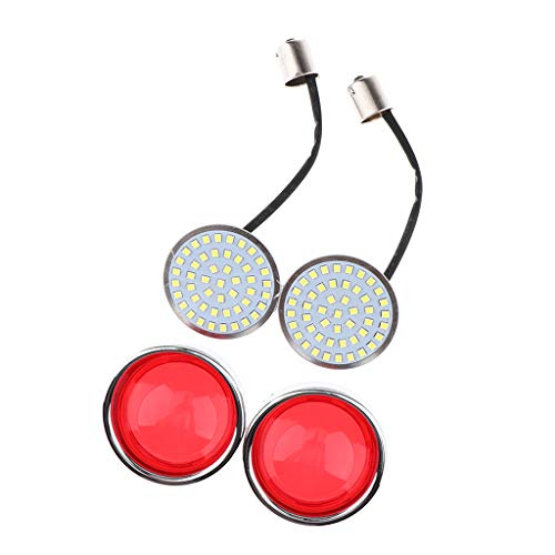 Perfeclan Red LED Flowing Motorcycle Turn Signal Light ,Pair Front/Rear Turn Signal Blinker Lights Indicator Lamp Universal: