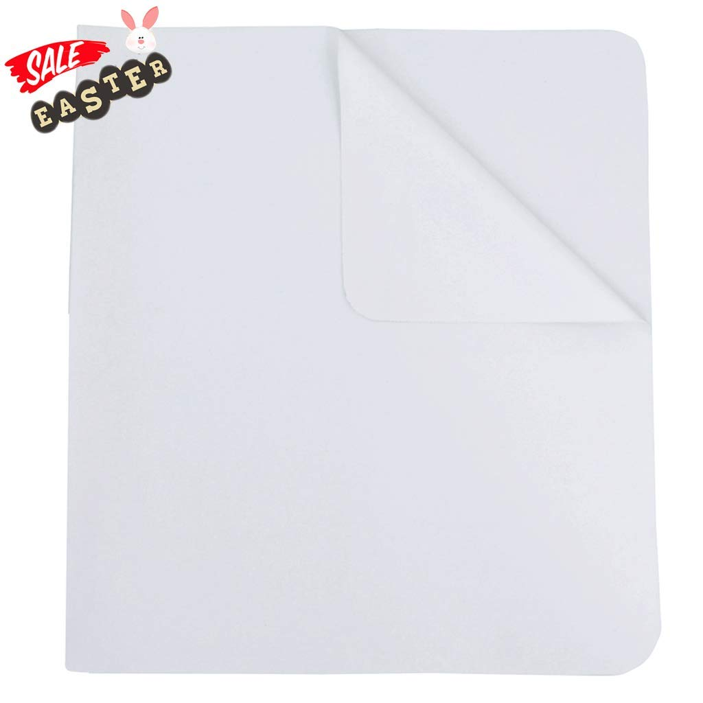 Flannel Crib Protector Pad, Reusable Washable Incontinence Bed Underpads,Water Resistant Utility Cotton Mattress Protector Pad, Solid White Waterproof Diaper Pad, One Size, 27'' X 50'' by Shunjie.Home