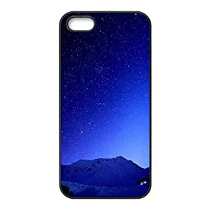 For Ipod Touch 5 Phone Case Cover Cold Blue Starry Sky Mountains Hard Shell Back Black For Ipod Touch 5 Phone Case Cover 327239