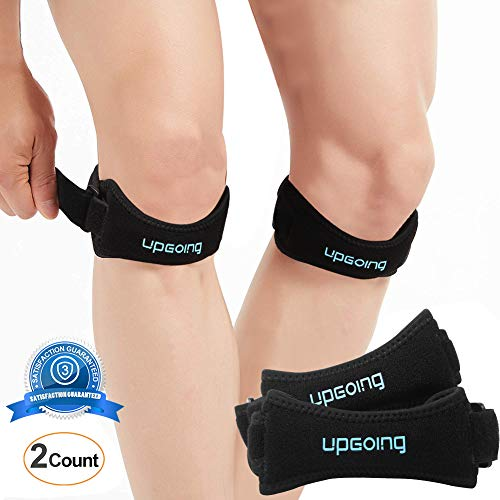 2 Pack Patella Knee Strap Brace Support Knee Pain Relief for Hiking, Soccer, Basketball, Running, Jumpers Knee, Tennis, Tendonitis, Volleyball & Squats [2018 Upgrade] – DiZiSports Store