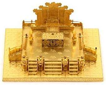 MQKZ Juego de rompecabezas tridimensional de metal en 3D / China - Guangming Hall/DIY creativo juguete de corte por láser/amarillo + herramienta A + B/una talla: Amazon.es: Hogar