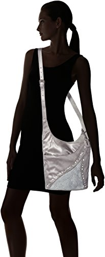 Women's Cross Grau Rieker Body silber Bag Grey 42 H1438 Grey EnR4Rd