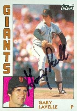 Autograph Warehouse 76955 Gary Lavelle Autographed Baseball Card San Francisco Giants 1984 Topps No .145 Gary Lavelle Autographs