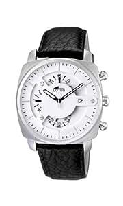 Lotus 10107/1 - Reloj cronógrafo de cuarzo para hombre con correa de piel, color negro
