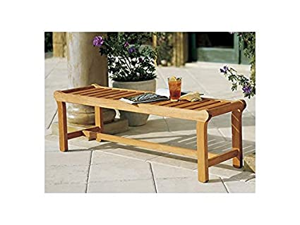 Amazing Wholesaleteak New Grade A Teak Wood Luxurious Outdoor Garden 55 Revni Backless Bench Whbhbl Machost Co Dining Chair Design Ideas Machostcouk