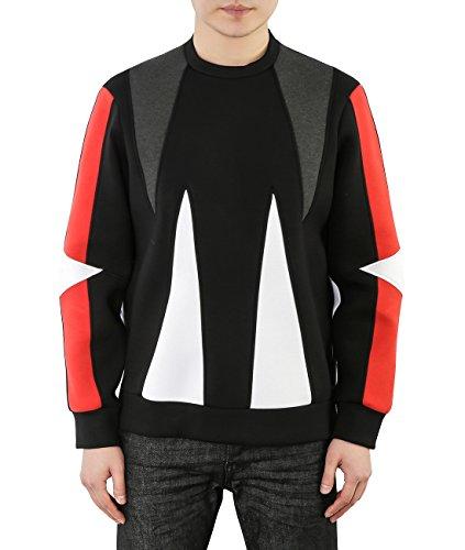 wiberlux-neil-barrett-mens-color-blocked-geometric-paneled-sweatshirt-xl-black-red