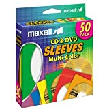 MAXELL CD-401 Multi-Color CD & DVD Sleeve / 190134 /