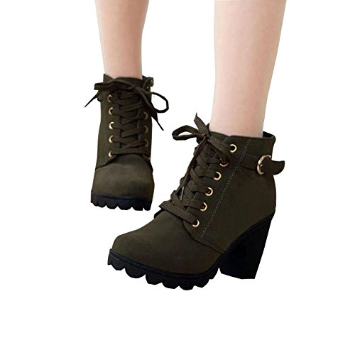 Cut Lace Fashion Up Green Hiking Side Ankle Army Best Show Platform Shoes Bootie Military Heel Brand Women's Boots High Out Outdoor Work wzq7ngFw