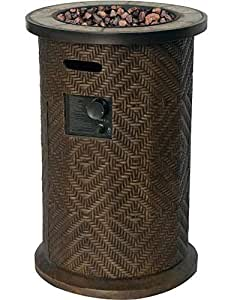 Bond Manufacturing 66770 Fairhaven Gas Firebowl Column, Bronze