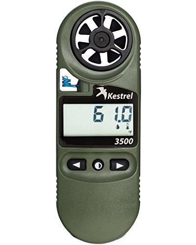 Kestrel 3500 Pocket Weather Meter/Digital Psychrometer Altimeter Anemometer with NV Backlight (Index Pocket Monitor Heat Digital)