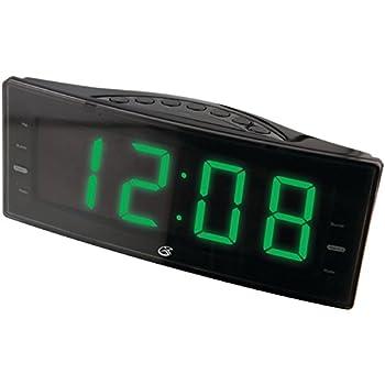 gpx inc c353b amfm clock radio with dual alarms and led display