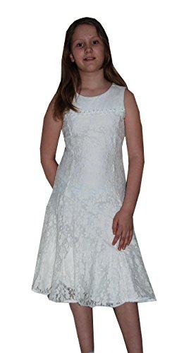 Blumenmädchen Festkleid Ivory Chiffonkleid Kommunionkleid Edles Kleid FdwxdE