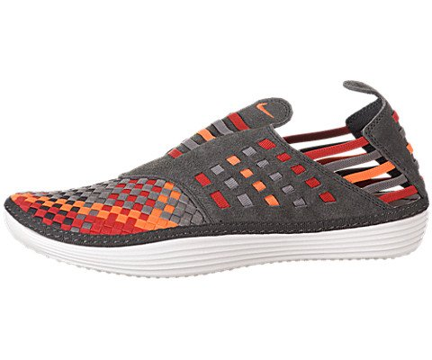 Men's Nike Solarsoft Rache Woven Midnight Fog / Total Orange Sport Grey Shoes