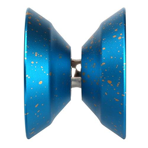 Weksi New Blue Silver Golden Dot Magic Yo-Yo Rainbow Aluminum Professional Yo Yo Toys Blazing Teens Tools