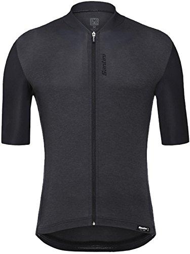(Santini Classe Short-Sleeve Jersey - Men's Black, M)