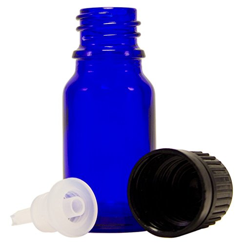 Lot of Five 10 ML (.34 OZ) Cobalt Blue Glass Bottles for sale  Delivered anywhere in USA