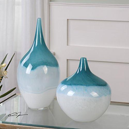 The Uttermost Carla Teal White Vases