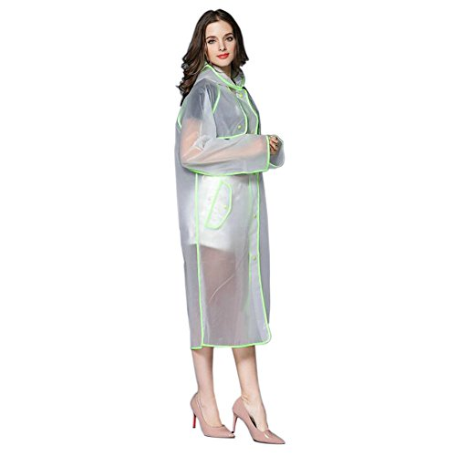 Aire Al Poncho Fashionable Verde Libre Hzjundasi Largo Ropa Deportes Mujer Impermeable Chubasquero Portable Eva Transparent Excursionismo Encapuchado 7RvwTPq