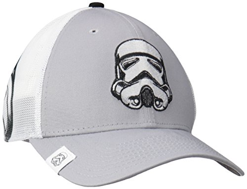 (Star Wars Men's Logo Wrapped Storm Trooper 39thirty Stretch Fit, Gray, Med/Large)