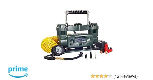 SuperFlow MV-9012 Volt Air Compressor Portable Heavy Duty Air Pump 12v Air Compressor Trucks RVs by for Off Road Vehicles Bikes and Cars Tire Inflator 150 PSI