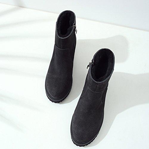 Los Color Raquetas Nieve Cortas Zapatos Negro De Mujer Tamaño nZ04W