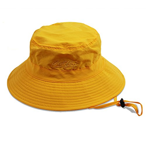 UPC 606682548047, Puli Women's Packable Fisherman Bucket Hat Outdoor Hat with Chin Strap - Sun Protective, Yellow