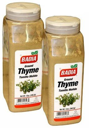 Badia Ground Thyme. Tomillo Molido 12 oz . Large container. Pack of 2