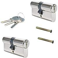 2-delig 60mm 30-30 cilinderslot inbouwslot slotcilinder gelijksluitend met 6 sleutels