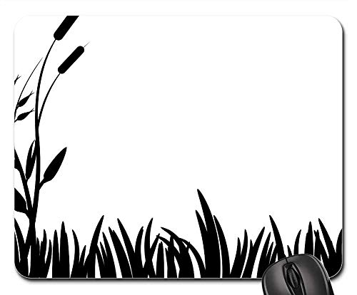 - Mouse Pad - Cattails Grass Lawn Nature Silhouettes