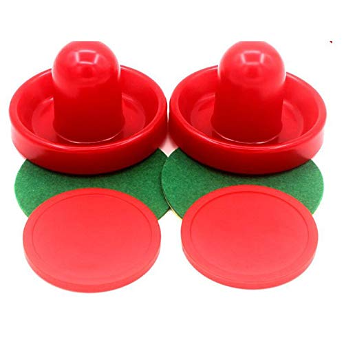 fghfhfgjdfj Professional Puck Ball Felt Pusher Ice Hockey Set Air Ball Durable Table Plastic Accessries Hit Ball