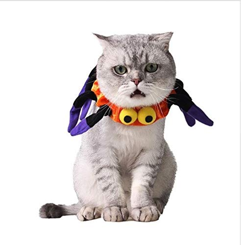 Taka Co Dog Halloween Costume 1PC Funny Halloween Cat Dog Costume Cute Pet Cosplay Spider Collar for Kitten Christmas Fancy Dress Up Pet Accessories