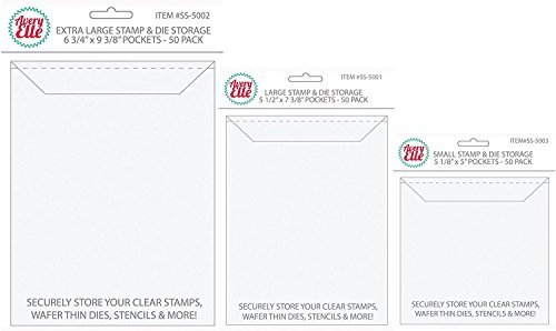 Avery Elle Stamp and Die Storage Pocket Bundle with Small, Large, and Extra Large Sizes (Set of 3 Items)