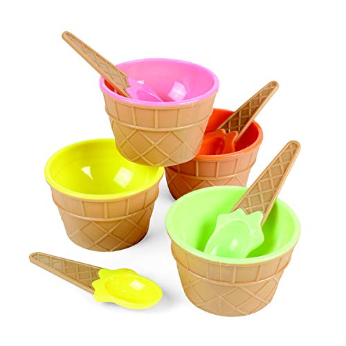 Fun Express Ice Cream Dishes | 12 Count | Great for Ice Cream Party, Kid's Birthday Celebration, Party Decor]()