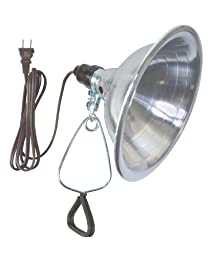 Woods 0151 150-Watt Clamp Light with 8.5-Inch Reflector and 6-Foot 18/2 SPT-2 Cord