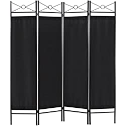 Best Choice Products 4-Panel Elegant Folding Home Accents Privacy Room Divider - Black