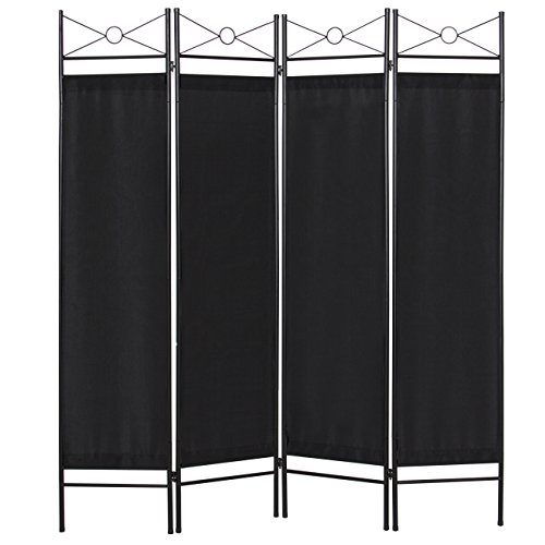 Best Choice Products Home Accents 4 Panel Room Divider-Black