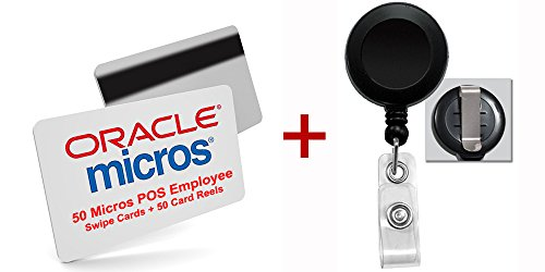 50 Micros Server Swipe Employee Cards + 50 Card Reels - AMAZON PRIME (50 Cleaning Cards)