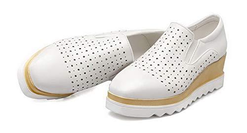 Chiusa Punta AgooLar Puro Bianco Donna Flats GMMDB005913 Tacco Medio Ballet qHxA6x