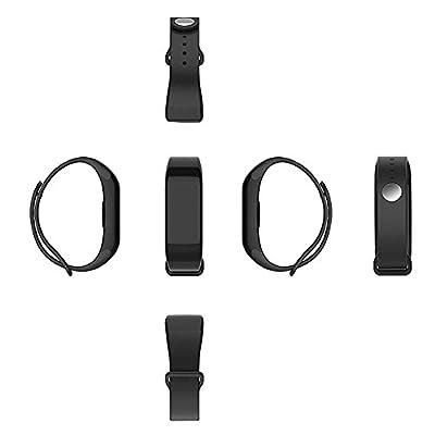Kobwa IP67 Waterproof Pedometer Heart Rate Monitor Fitness Tracker Watch,Wireless Smart Bluetooth Sport Activity Tracker Smartband Wristband Bracelet with Sleep Testing Calls Vibration Remind(Black)