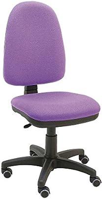 La Silla de Claudia - Silla giratoria de escritorio Torino morado lila para oficinas y hogares ergonómica con ruedas de parquet