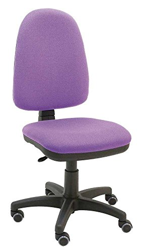 La Silla de Claudia - Silla giratoria de escritorio Torino morado lila para oficinas y hogares ergonomica con ruedas de parquet